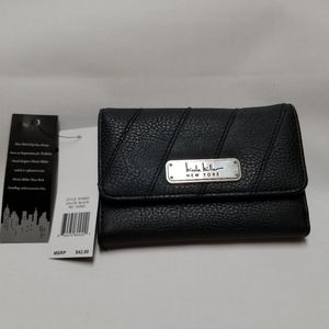 Nicole Miller black wallet.